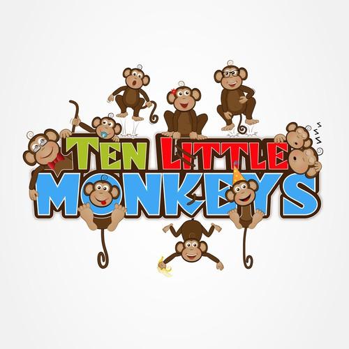 Ten little monkyes