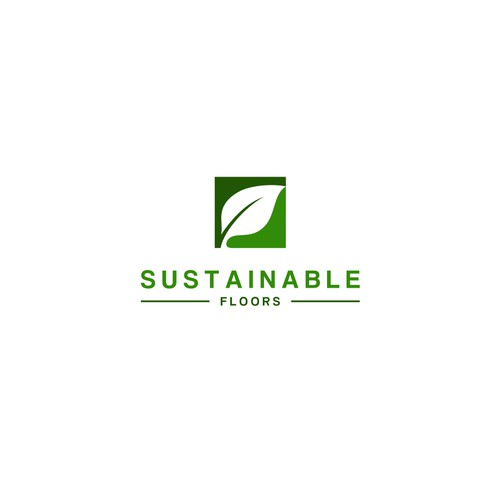 Green planet logo for concrete floor company
