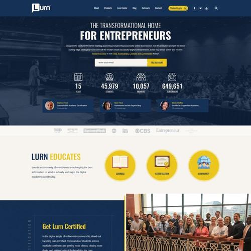 Concept design for Lurn.com