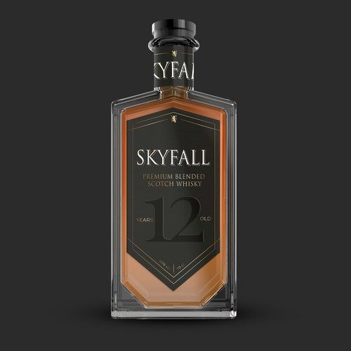 Label and bottle design for Scotch Whisky