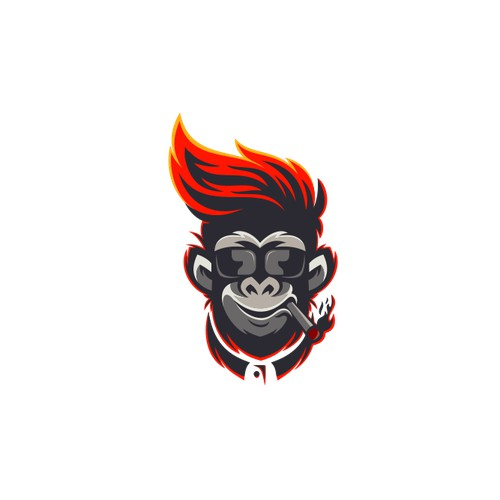 flaming monkey