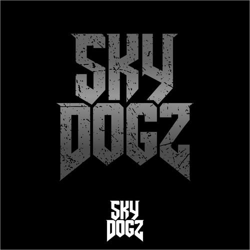Bold logo for a rock band, Sky Dogz
