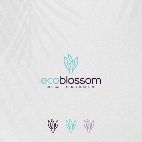 Logo for a company that sells reusable menstrual cups and other environmentally friendly female care products.