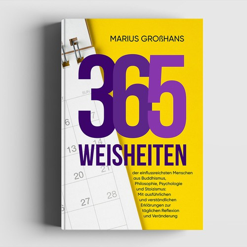 Cover for Self-Help Book with 365 Quotes