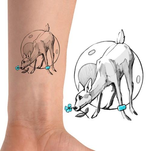 Lady Deer Tattoo