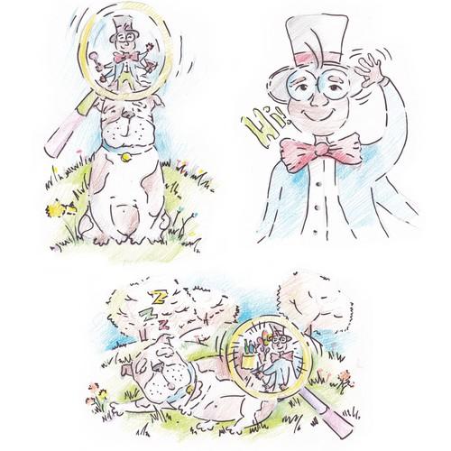 English Bulldog & a Flea for children's book