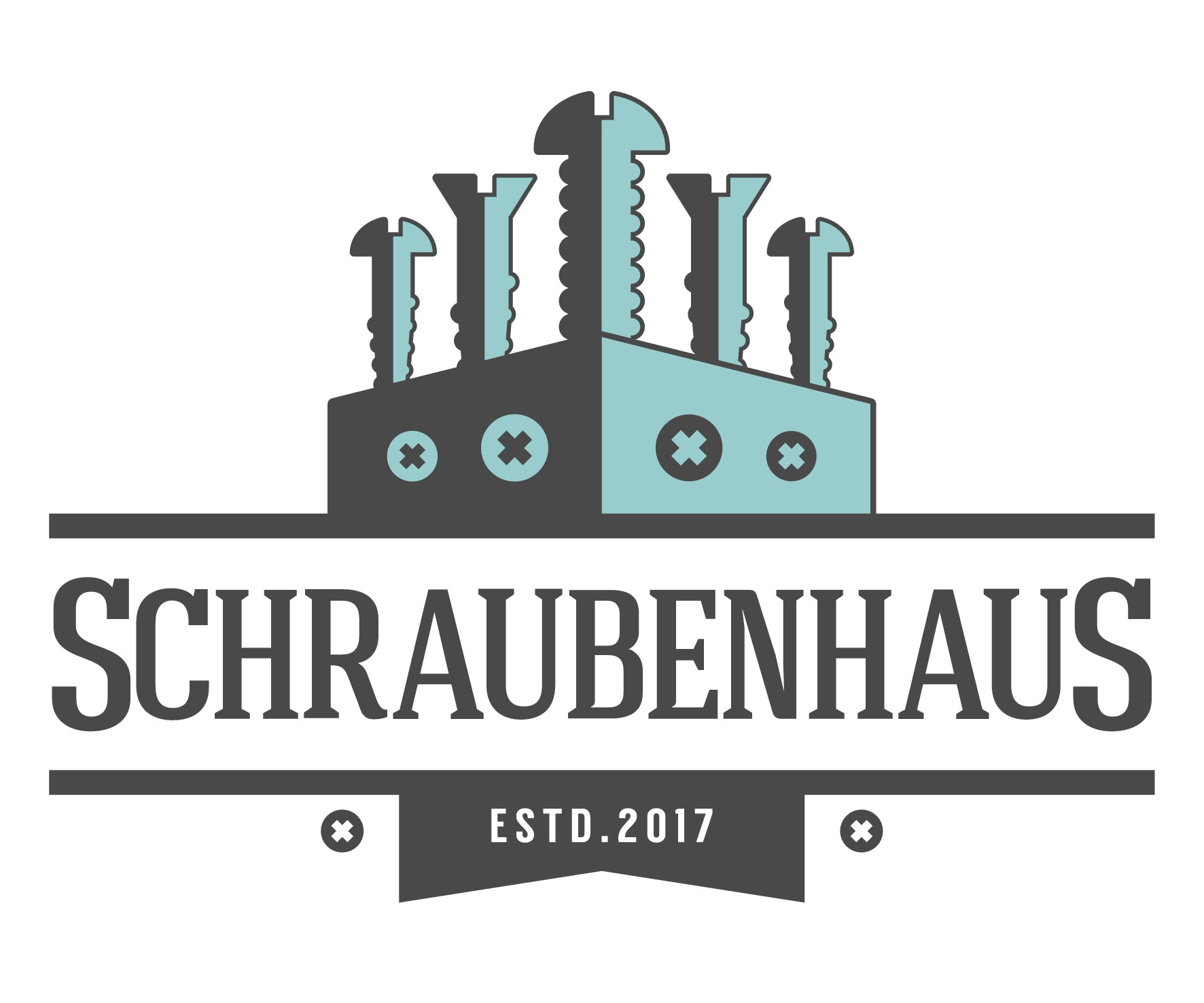"""Create a logo for a new online shop (for Screws and more) called """"SchraubenHaus"""""""