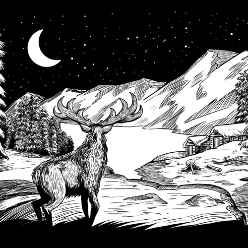Illustration for Screenprint