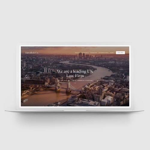 Squarespace website for Law Firm