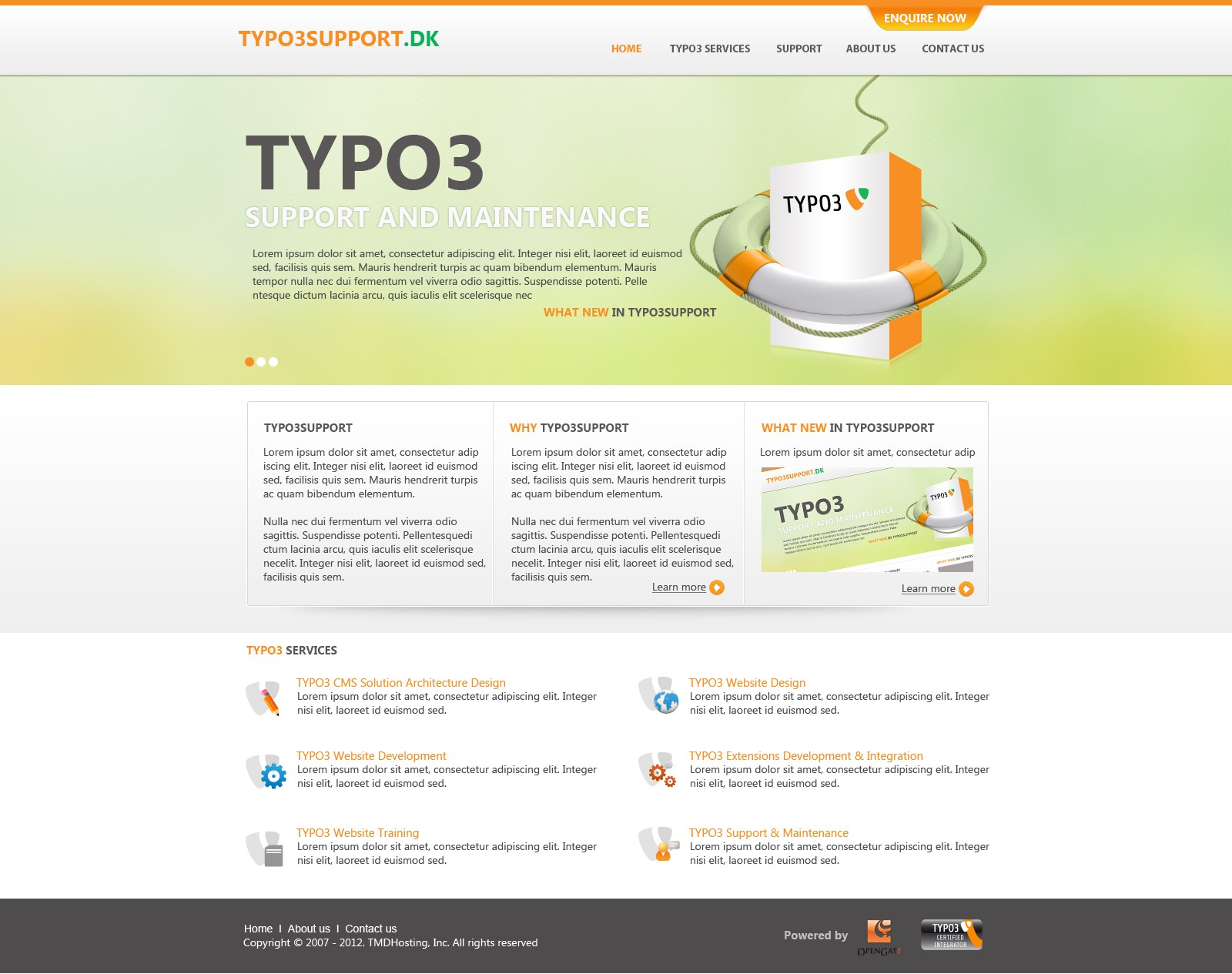 Create the next website design for Typo3support.dk