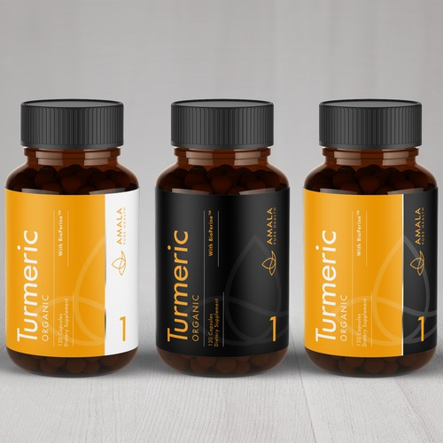 Amala Supplement Label Design