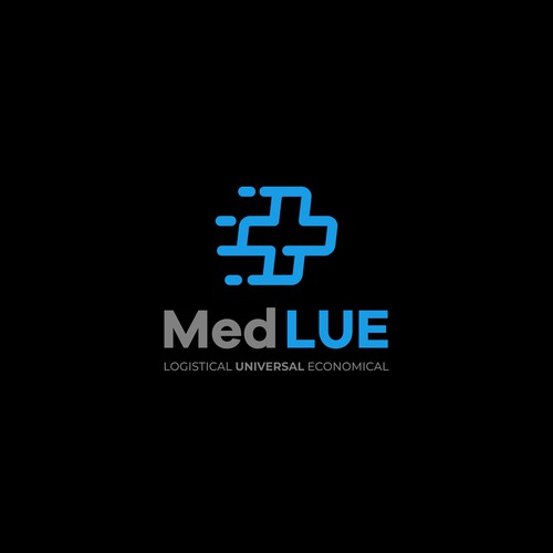 Modern and Fun logo concept for medical distribution company.