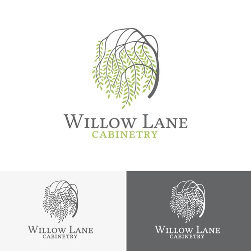 logo design for Willow Lane Cabinetry
