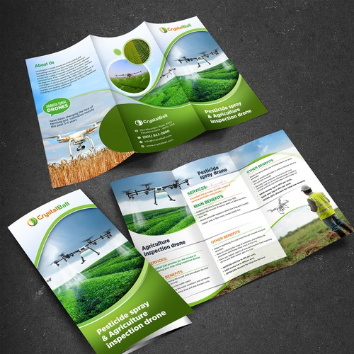 Brochure design ( Drone for agriculture)