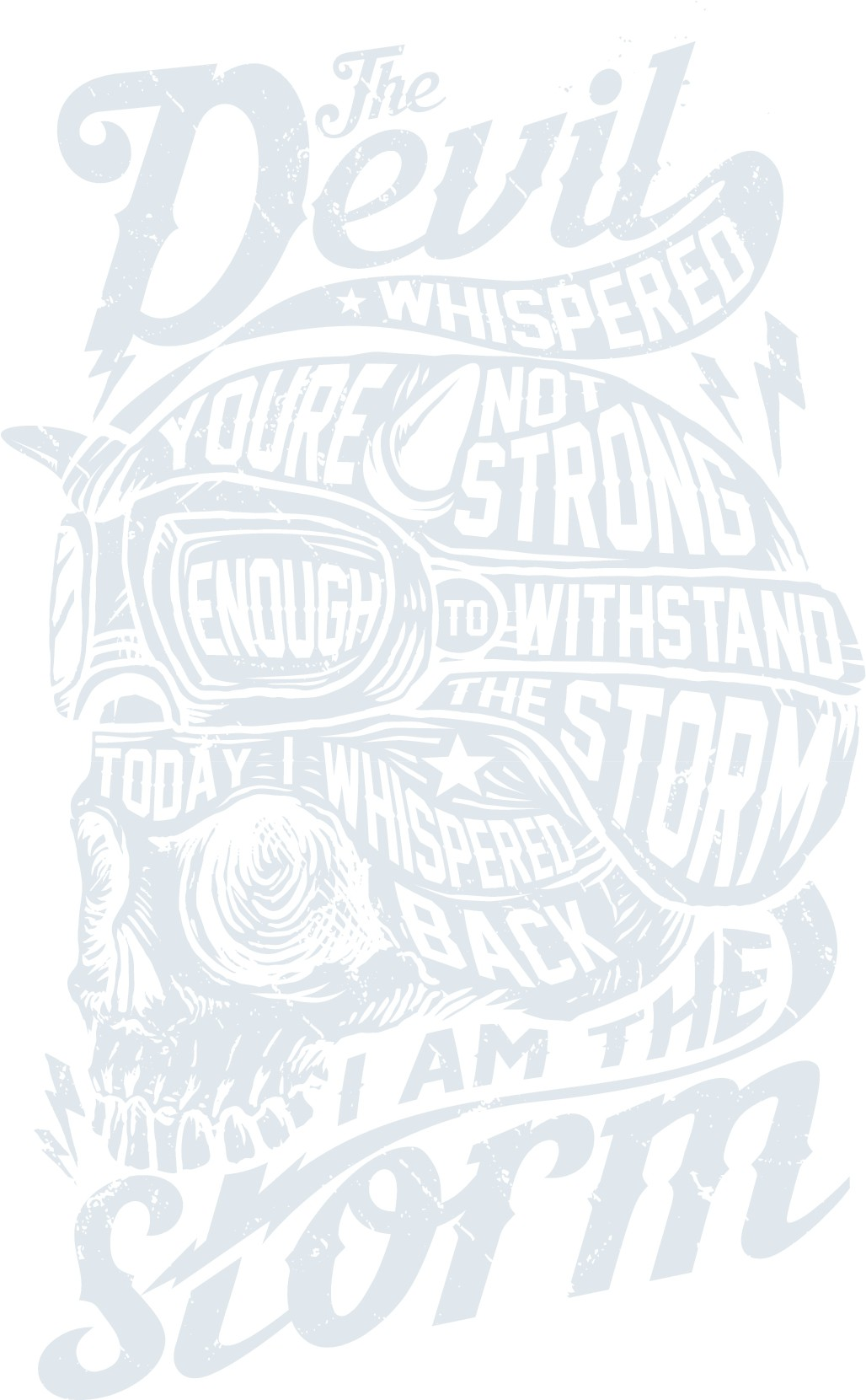 Powerful T-shirt design needed for Inspirational Quote