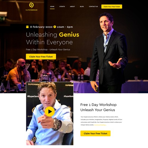 Motivational speaker web page design