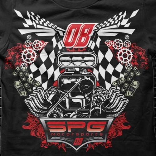 EDGY Motorsports/Racing T-Shirt Design
