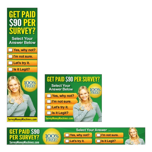 *Guaranteed!* SurveyMoneyMachines.com  needs a new banner ad