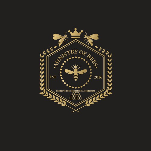 MINISTRY of BEES Logo