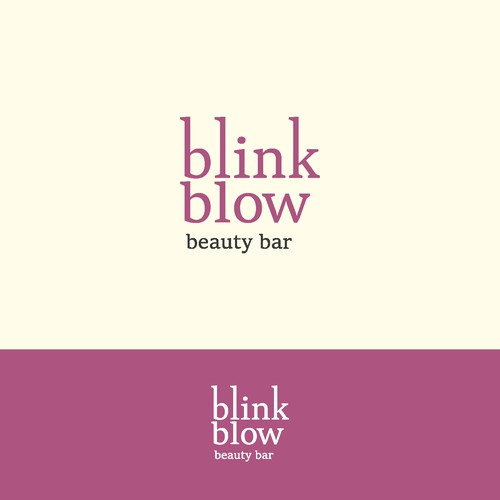 logo concept for blink blow beauty bar