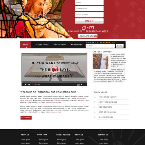 Orthodox Christian Media Club landing page.
