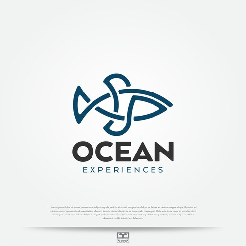 Bold logo with fish as a main theme.
