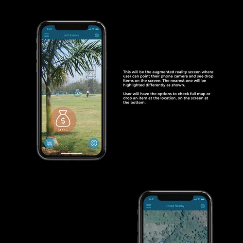 App Design for an augmented reality app