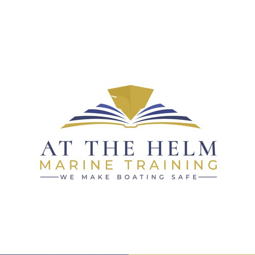 A logo for marine and boat training