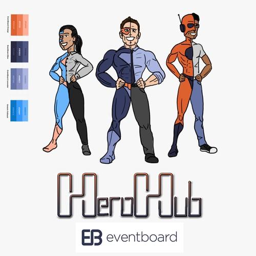 HeroHub Offices Superheroes