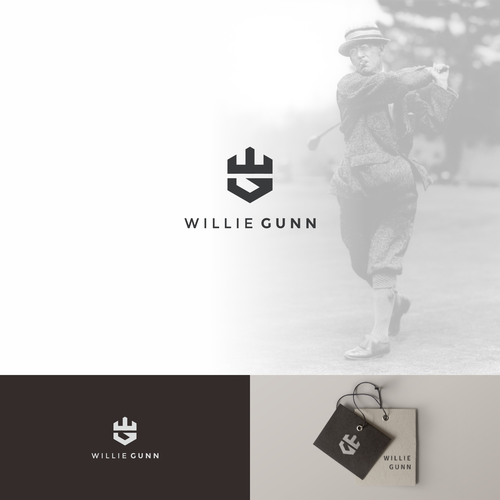 Original logo for golf apparel company, Willie Gunn