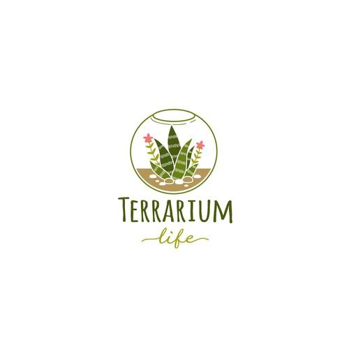 Logo concept for terrarium blog