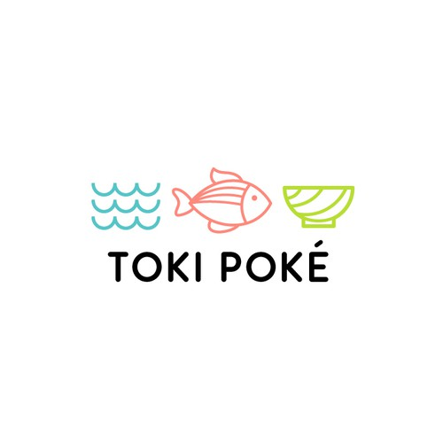 a tasty logo for a poké bowl concept fast-casual restaurant