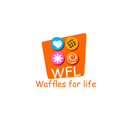 """ WFL ""a new kind of waffle restaurant experience , ""waffles for life"""