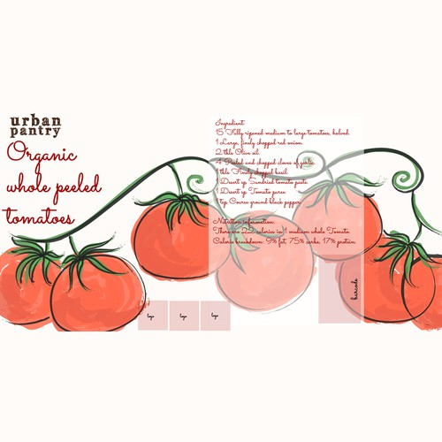 Packaging design concept for Urban Pantry organic tin tomato