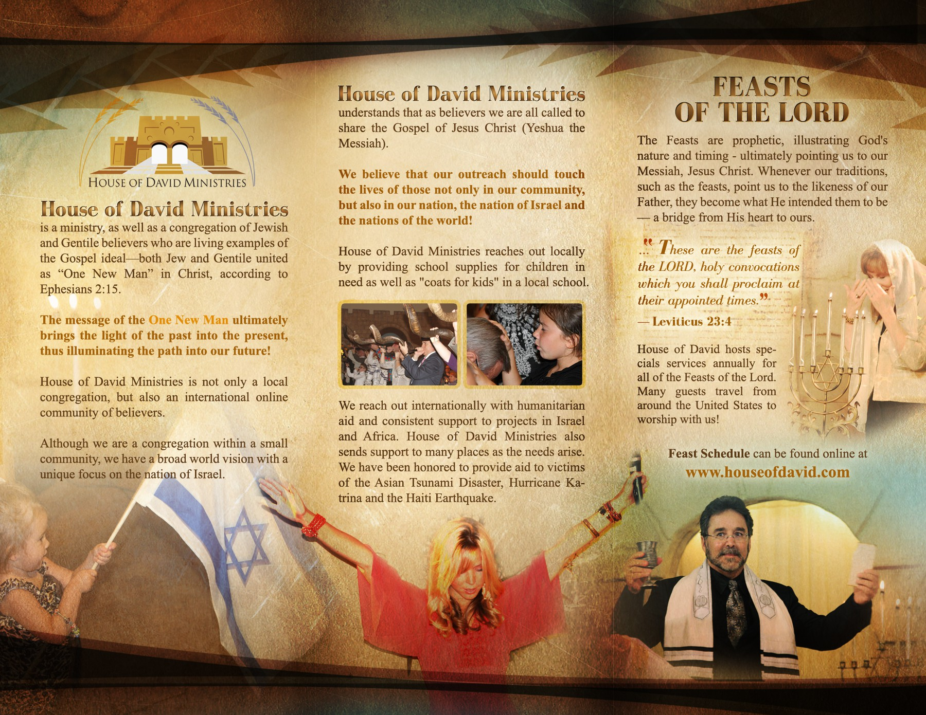 House of David  needs a new brochure design