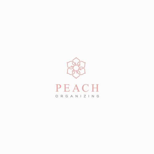 Peach Organizing Logo Design