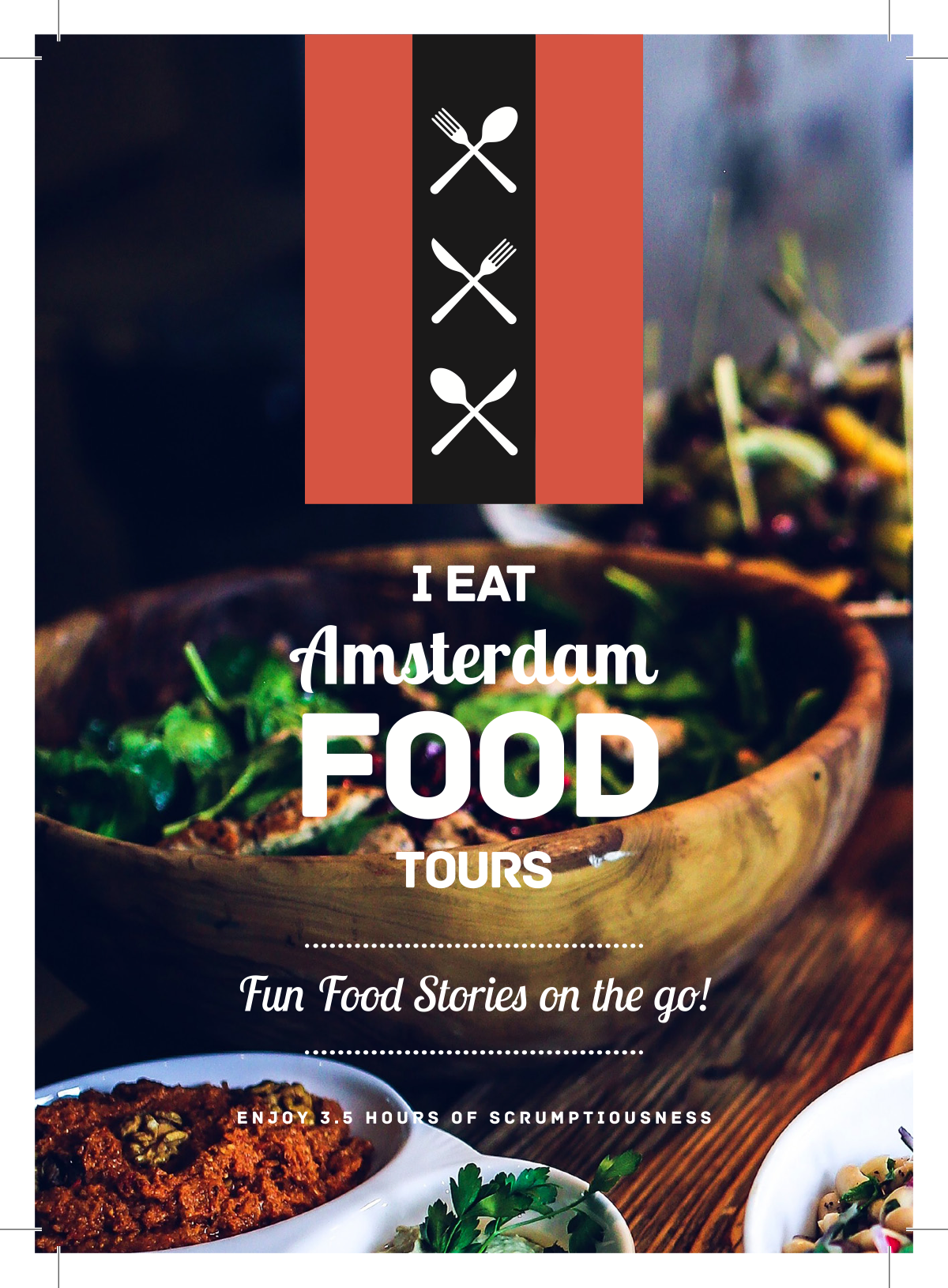 Postcard & Stickers for I Eat Amsterdam Food Tour