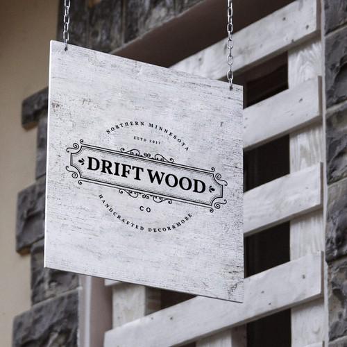 logo concept for drift wood