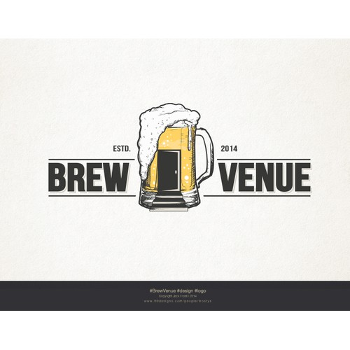 Create a captivating logo for BrewVenue - Combine hops w/ event space!