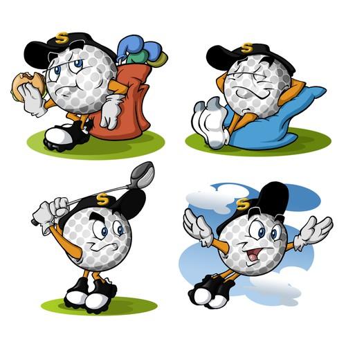 Design our golf ball mascot