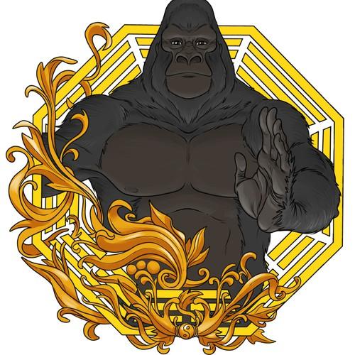 Gorilla crest for fitness gym