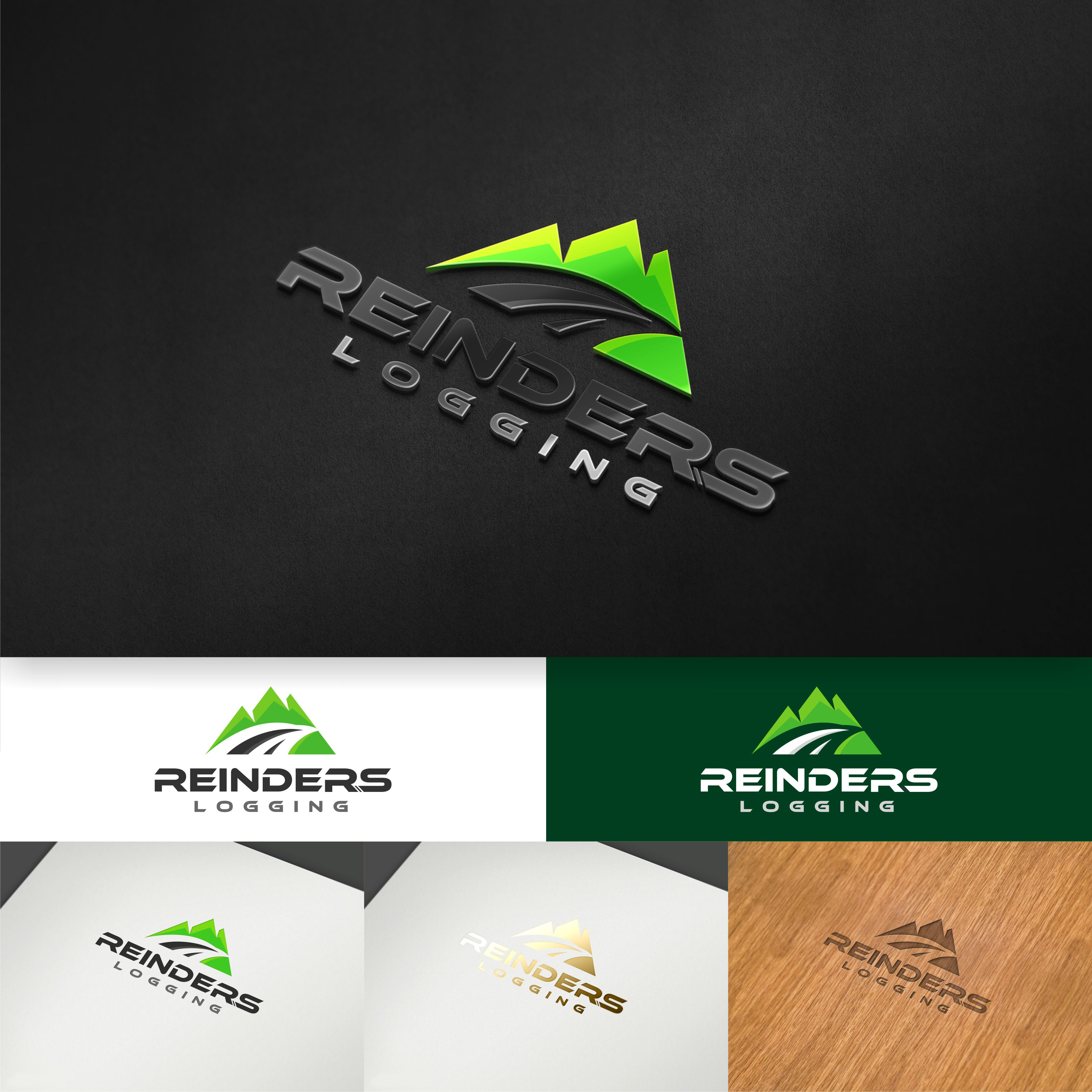 Attractive logo designed for a recently purchased logging business.