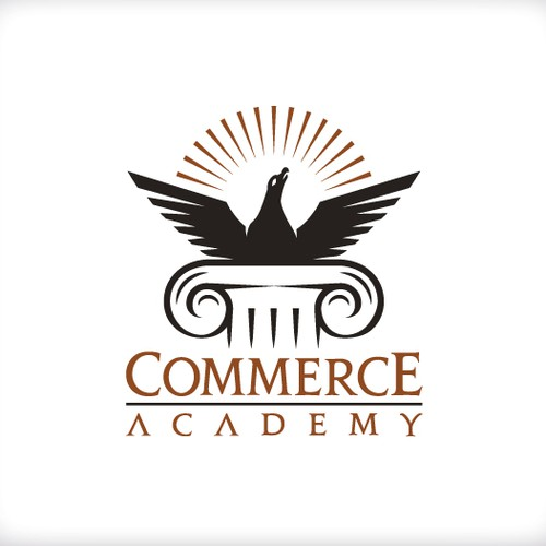 Create the logo for the governmental project : Commerce Academy