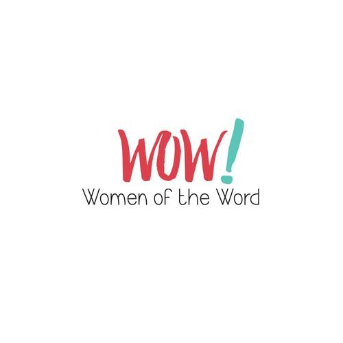 Font-driven logo design for church women's ministry.