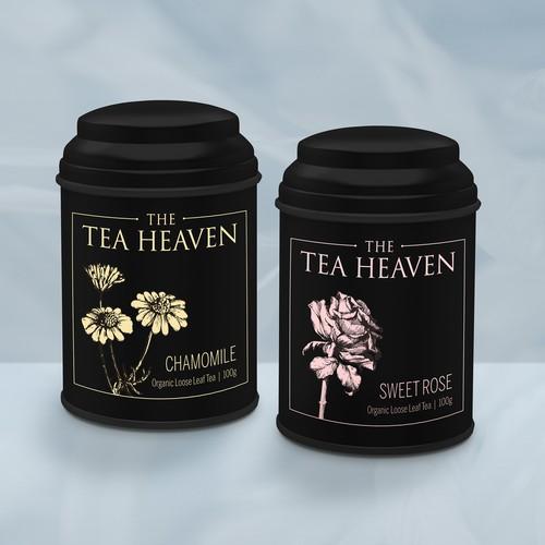 Packaging for Tea Heaven tin