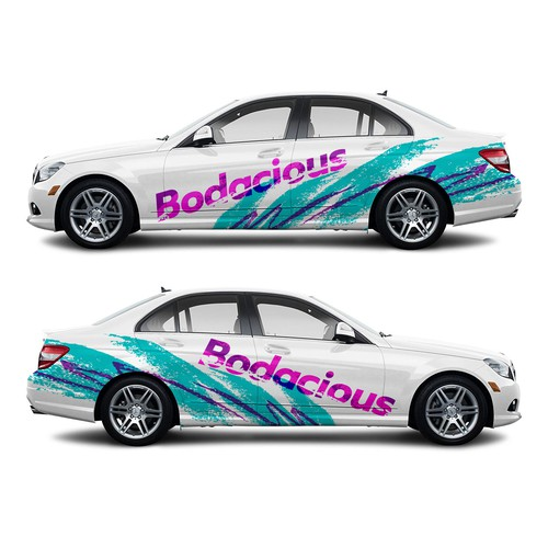 Bodacious Jazzy 90s Car Wrap Design