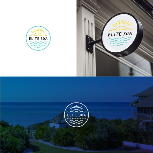approved neat logo design for ELITE 30A, a vacation property management company in an exclusive area of Gulf of Mexico beach.