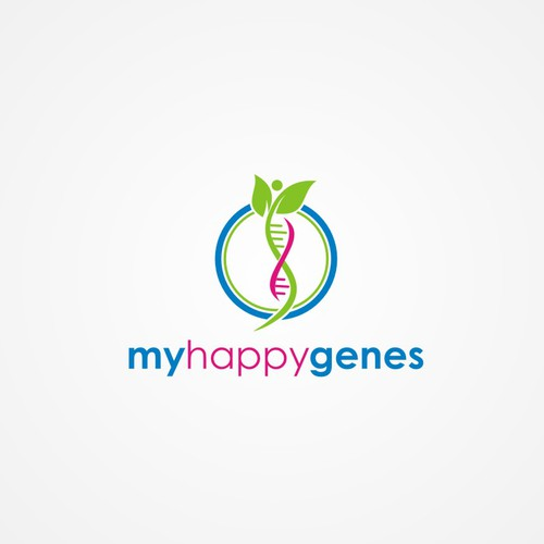 My Happy Genes logo design