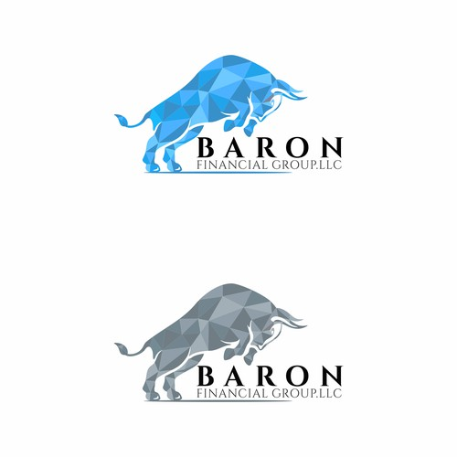 fresh, clean logo for Baron Financial Group, LLC