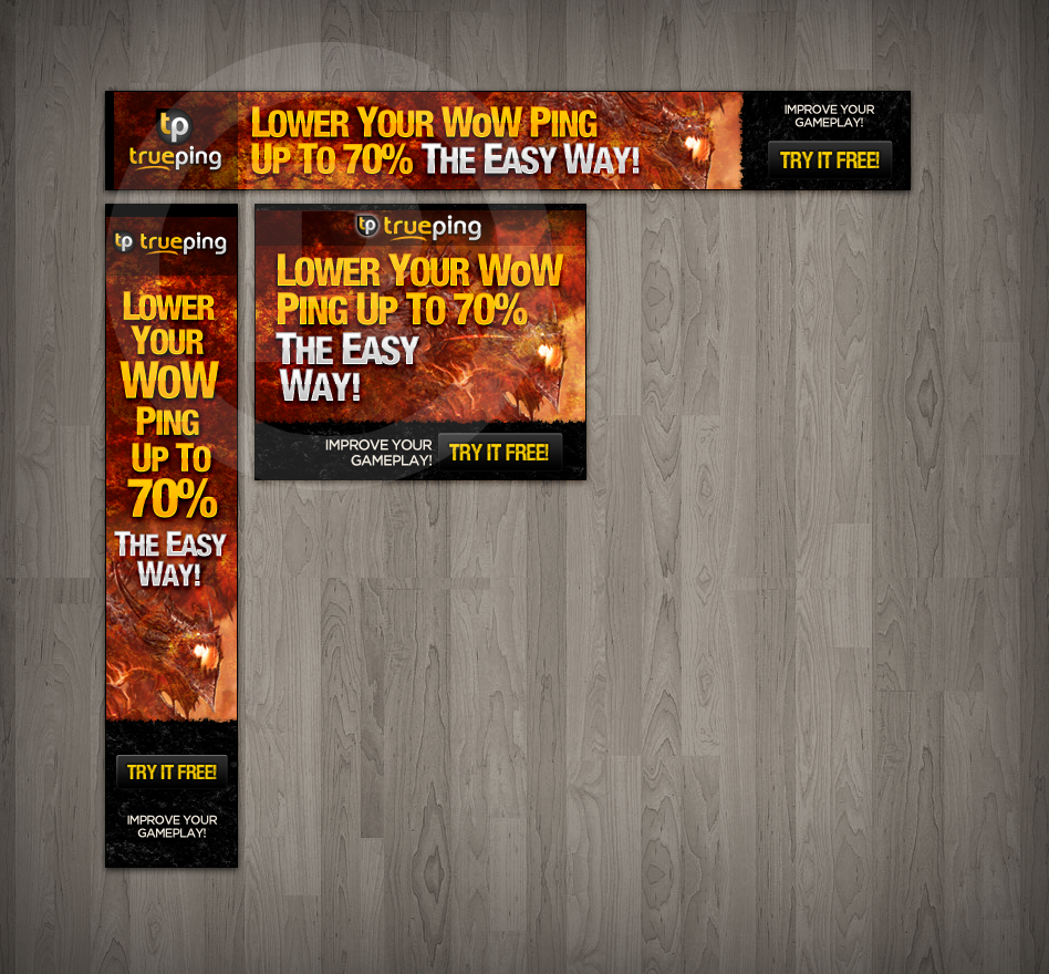 Create the next banner ad for TruePing
